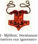 Mjöllnir, Þórshamar batters our ignorance