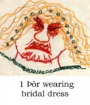 Þór wears bridal dress