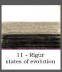 Rígur states of evolution