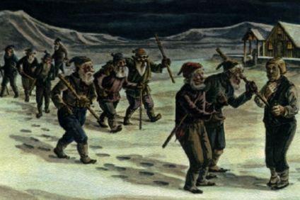 Icelandic jólasveinar (yule-lads)