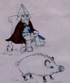 Freyr and Gullinbursti - his golden-maned boar
