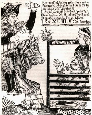 Hermóður rides to Helia to resurrect Baldur