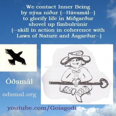 We contact Inner Being by Nýsa Niður (Hávamál) to glorify life in Miðgarður and shovel up Fimbulrúnir - skill in action