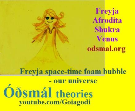 Freyja space-time foam bubble - our universe