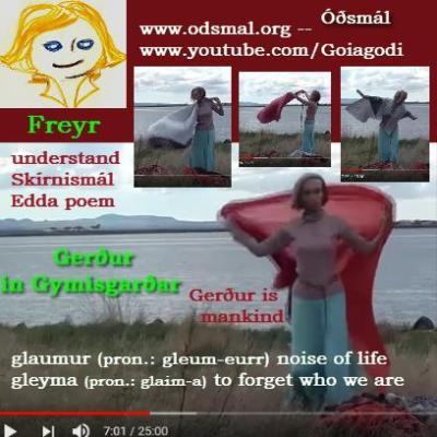 Gerður in Gymsigarðar - Gerður is mankind