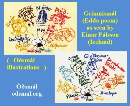 Grímnismál (Edda poem) as seen by Einar Pálsson (Iceland)