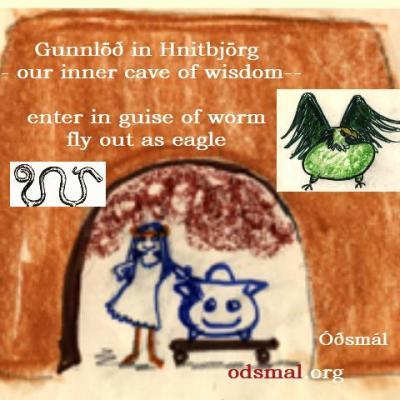 Gunnlöð in Hnitbjörg - our inner cave of wisdom