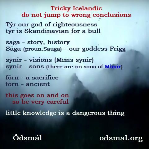 Tricky Icelandic